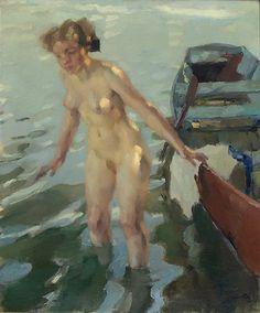 Women in Painting by Leo Putz (1869-1940) German Artist ~ Blog of an Art Admirer