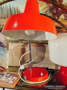 Retro asztali lámpa - orange lamp in Retro style