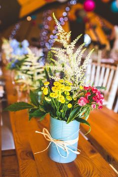 Use old Paint...Fun & Creative DIY Tin Can Wedding Ideas