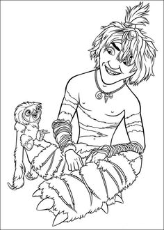 Croods Coloring pages for kids. Printable. Online Coloring. 10