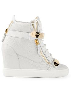 212cd998650a Shop Giuseppe Zanotti Design concealed wedge heel hi-top sneakers in Iil7  from the world s