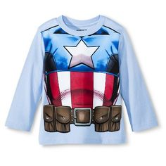 Captain America Toddler Boys' Long Sleeve Costume Tee
