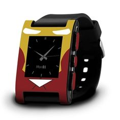 Pebble Watch - Hero Series Iron Man Skins