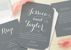 minted wedding invitations | 100 Layer Cake