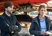Gracepoint is an American crime drama TV series by Chris Chibnall. A remake of Chibnall's UK drama series Broadchurch. Stars: David Tennant, Anna Gun, Michael Pena, Virginia Kull, Nick Nolte, Jacki Weaver.  Two detectives investigating the murder of a boy in a small, tightly knit coastal town.  RECENTLY CANCELLED.