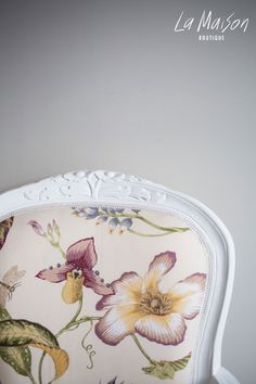 PRE-ORDER: Floral carved armchair - Brittany