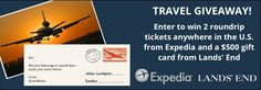 Win a Trip Anywhere in the US   a Lands End Gift Card