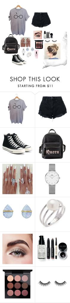 """""""Queen"""" by lindsss2 on Polyvore featuring Nobody Denim, Converse, Charlotte Russe, Daniel Wellington, Melissa Joy Manning, Baggins, Avon, Bobbi Brown Cosmetics and Clinique"""