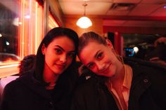 Riverdale: Lili Reinhart and Camila Mendes (photo via Cole Sprouse's Twitter)