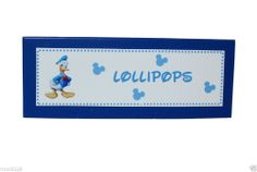Personalized Donald Duck Birthday Party Food Labels Tent Cards Place Cards