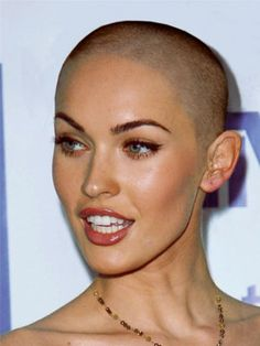 Megan Fox - Famous Hot Bald Women - Celebrity Women with Shaved Heads - Esquire