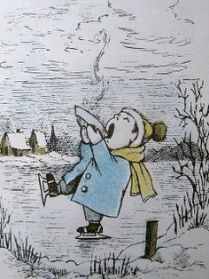 ...slipping on the sliding ice, sipping chicken soup with rice... Sendak illustrations - January