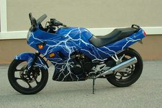 Kawasaki Ninja motorcycle wrap by Artful Signs, Inc