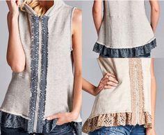 Lace Vest Hoody Shan