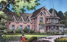 Eplans Gothic Revival House Plan - Full of Delightful Details - 4725 Square Feet and 4 Bedrooms(s) from Eplans - House Plan Code HWEPL03537