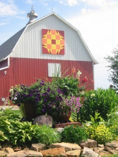 This might be my favorite..barn quilt in Wellsburg, Iowa by mara