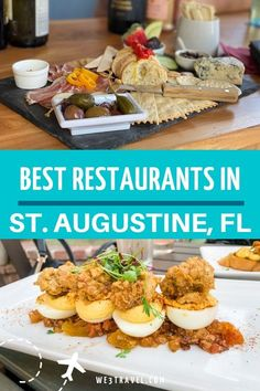 Find the best downtown St. Augustine restaurants for lunch dinner drinks and snacks for your trip to this historic city in Florida. Florida Food, Florida Vacation, Florida Travel, Florida Beaches, Florida Trips, Saint Augustine Beach, St Augustine Florida Beach, St Augustine Florida Restaurants, Lunch Restaurants