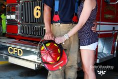 Engagement shot with his helmet, turn out pants & truck.and her new shiny ring. Firefighter Engagement Photos, Firefighter Pictures, Engagement Shots, Country Engagement, Engagement Pictures, Fireman Wedding, Firefighter Wedding, Couple Photography, Engagement Photography