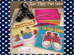 Shoe tying take home. Help students learn to tie their own shoes from the first day of school.