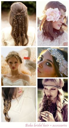 Boho Wedding Hair | Bohemian Wedding: Wedding Advice - Want That Wedding ~ A UK Wedding ...
