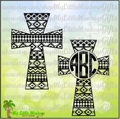 Aztec Cross Monogram and Solid Design Digital Clipart Instant Download SVG EPS DXF Jpeg Png - pinned by pin4etsy.com