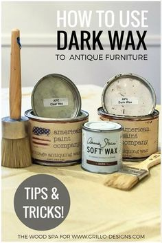 How To Use Dark Wax To Antique Furniture Easy Dark Wax Tutorial - The Wood Spa shares a DIY video tutorial on how to use dark wax to antique or 'age' furniture. Learn all the tips and tricks here! Refurbished Furniture, Repurposed Furniture, Furniture Makeover, Antique Furniture, Wood Furniture, Modern Furniture, Outdoor Furniture, Furniture Design, Luxury Furniture