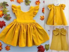New Baby Dress Diy Tutorials Ideas Baby Frock Pattern, New Dress Pattern, Frock Patterns, Kids Dress Patterns, Baby Girl Frocks, Frocks For Girls, Dresses Kids Girl, Diy Summer Clothes, Cool Baby Clothes