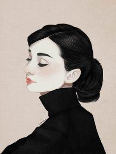 Audrey Hepburn / 2014 / Digital Painting / ⓒ ENSEE - Choi Mi Kyung