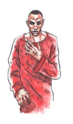 #Tricky #HellIsRoundTheCorner #ThomasCrayon https://lesinusables.wordpress.com  Illustrations et courts textes sur les morceaux que je passe en boucles d'oreilles depuis des années. Venez jeter un œil!