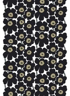 Fabric Designs Pieni Unikko 2 cotton fabric by Marimekko - Animal Wallpaper, Pattern Wallpaper, Wallpaper Backgrounds, Iphone Wallpaper, Marimekko Wallpaper, Marimekko Fabric, Scandinavia Design, Japanese Patterns, Beginner Painting