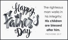 Happy Father's Day, Fathers Day Bible Verse