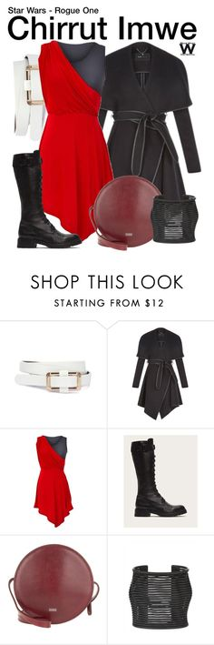 """""""Star Wars - Rogue One"""" by wearwhatyouwatch ❤ liked on Polyvore featuring BCBGeneration, jon & anna, Frye, Closed, Jaeger, wearwhatyouwatch and film"""