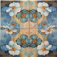 1152 Servilleta decorada flores