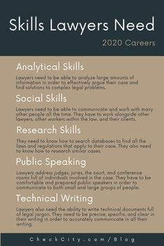 Analytical Skills: Lawyers deal with a great amount of information in all of their cases. There are all the many facets of the law to consider and all the individual details of each case. Because of this, lawyers need to be able to analyze large amounts of information in order to effectively argue their case and find solutions to complex legal problems. #lawyer #profession #career #salary #income #job #work Student Life, Law Student Quotes, Law School Quotes, Law School Humor, Getting Into Law School, Law Notes, Lawyer Quotes, Law Office Design, What To Study