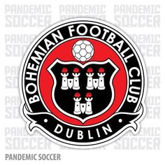 The Bohemian Football Club, founded on September are the oldest football club in Dublin, Ireland. The club are located in the Phibsboro area of North Dublin City and play their home games in Dalymount Park. Soccer Logo, Football Team Logos, Football Soccer, Soccer Teams, Sports Logos, British Football, European Football, Portsmouth, Newcastle