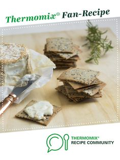 Recipe Rosemary and sea salt crackers by Thermomix in Australia, learn to make this recipe easily in your kitchen machine and discover other Thermomix recipes in Baking - savoury. Salt Crackers, Vegetarian Paleo, Recipe Community, Lchf, Sea Salt, Feta, Australia, Baking, Recipes
