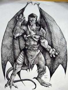 Goliath - Gargoyles by charcoal-almighty.deviantart.com on @deviantART
