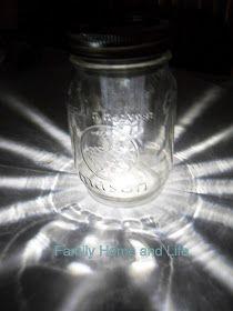 Family Home and Life: Mason Jar Solar Light
