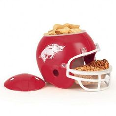 Compare prices on Utah Utes Snack Helmets from top online fan gear retailers. Save money when buying authentic, replica, and mini football helmets. Arkansas Razorbacks, Oklahoma Sooners, Razorback Party, Dip Tray, Football Snacks, College Football, Utah Utes, University Of Arkansas, Auburn University