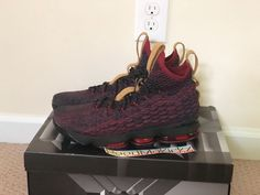 pretty nice 14a9e 27843 Nike Lebron 15 XV New Heights Dark Atomic Red Mens sizes 897648 300