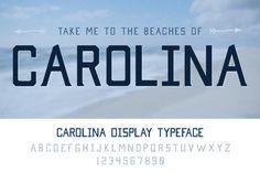 Carolina Display Typeface. Fonts. $8.00