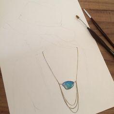 ✨Handpainted #handpainted #handmade #labradorite #fashionillustration #jewelry #ilustração #joias #necklace #designdejoias #jewelryillustration #aquarela #watercolor #jewelryrendering #jewellery #jewellerydesign #schmuck #schmuckdesign #schmuckdesigner #illustration #arte #painting #joia