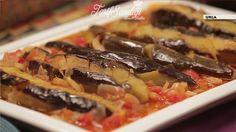 Malzemeler 8 patlıcan  1 soğan 4 diş sarımsak 7 domates Tuz, şeker Zeytinyağı Yarım çay bardağı su Kızartmak için Sıvıyağ Turkish Recipes, Pasta, Meat, Chicken, Foods, Food Food, Food Items, Cubs, Pasta Recipes