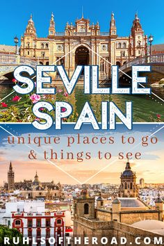 The ultimate Seville Spain bucket list for a Spain vacation travel guide. Use this Spain itinerary to see Spanish architecture, learn Spain culture, & explore Alcazar Seville. Spain travel tips & Spain ideas for a trip to Spain with a stop in Sevilla Spain. The best things to do in Spain while traveling Spain on a Europe trip include the Plaza de Espana Seville & Plaza de Toros Sevilla! Travel to Spain | Spain Vacation | Spain ideas | Spain Trip | Europe Trip #seville #spain #europe Portugal Travel, Spain And Portugal, Spain Travel, European Vacation, Vacation Travel, Travel Goals, Europe Travel Guide, Europe Destinations, Travel Guides