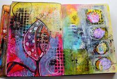 Art Journal Background pods by Jodi Ohl