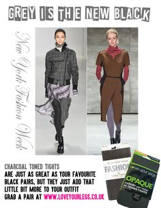 #greyisthenewblack #fashion #nyfw #tights