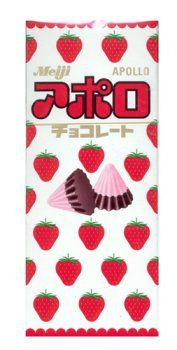Meiji - Apollo Strawberry Chocolate Candy