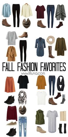 Fall Fashion Favorites - 10 outfits put together using some favorite fall fashion essentials.