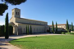Le Barroux ~ Vaucluse ~ Provence ~ Avignon ~ France ~ Sainte Madeleine Abby ~ The construction began in 1980 and was completed during the late 1980s.  Elevated by Holy See to an abbey in 1989.