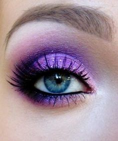 Purple eyeshadow  #vibrant #smokey #bold #eye #makeup #eyes by mariadoggth